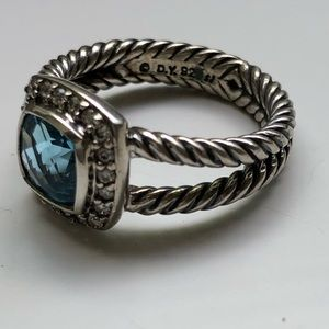 David Yurman Jewelry - David Yurman Petite Albion Ring Blue Topaz Size 8